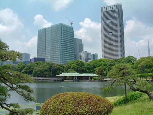 Hama Rikyu, el jardín de Tokio